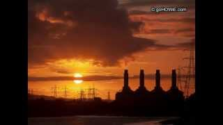 preview picture of video 'Sunset behind the power station on the River Dee'