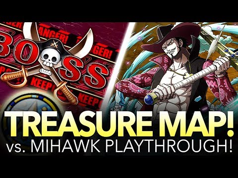 TREASURE MAP vs. MIHAWK! How To Play Treasure Map! (One Piece Treasure Cruise - Global)