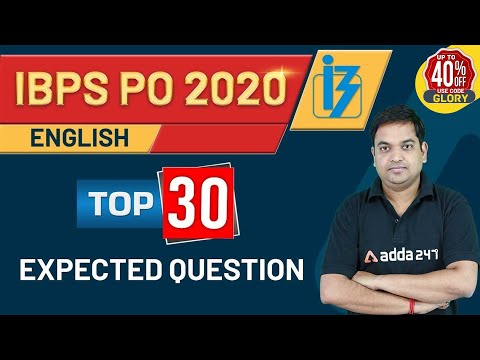 Top 30 Expected Question | English for IBPS PO Preparation ...