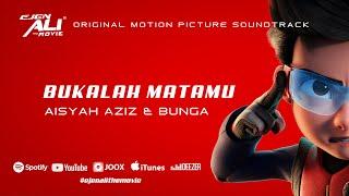 Bukalah Matamu - Aisyah Aziz, Bunga Lyrics Video (Ejen Ali The Movie OST)