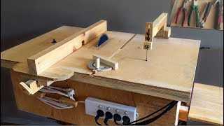 Multifunction table make part 1 table saw router table plane table homemade 4 in 1 workshop table saw router table disc sander jigsaw table keyboard keysfo Choice Image
