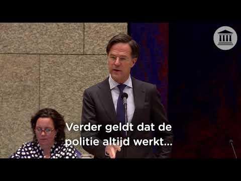 Premier Rutte ontkent grensoverschrijdend geweld bij vreedzame demonstraties door politie en ME