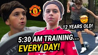 """We Train 8 Hours A Day."" 12 Yr Old Soccer Prodigy Chase Carrera Is The HARDEST WORKER In The Nation"