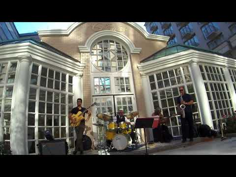 "My quartet at The Fairmont Washington DC performing ""Billie's Bounce"""
