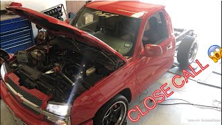 IT ALMOST BLEW UP?! Supercharged Silverado gets lucky on the dyno!