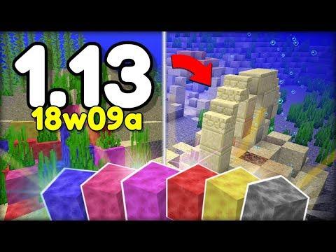NOVĚ KORÁLOVÉ BLOCKY & PODVODNÍ RUINY v Minecraftu 1.13 !! (Aquatic Update)