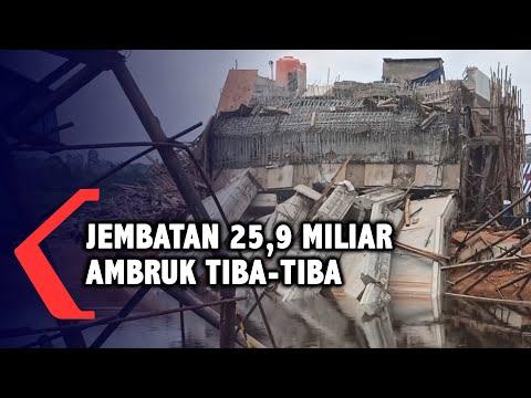 jembatan senilai miliar ambruk di palembang