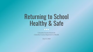Returning to School Healthy & Safe