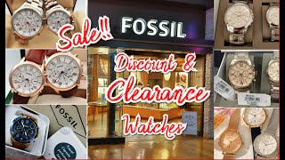 FOSSIL OUT DISCOUNT & CLEARANCE WATCHES * SHOP WITH ME