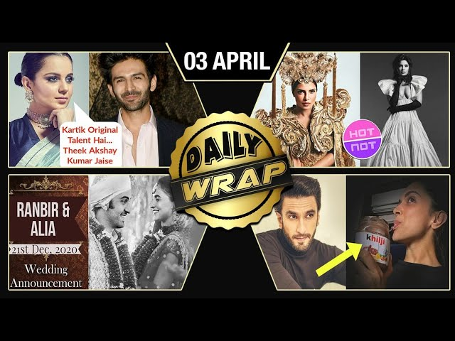 Ranbir Alia's Wedding Date, Kangana Praises Kartik, Priyanka Chopra's New Photoshoot | Top 10 News