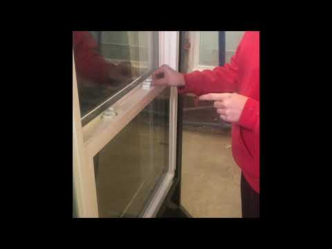 Removing and reinstalling vertical sash