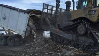 Can A D6 Dozer Empty A Roll Off Container
