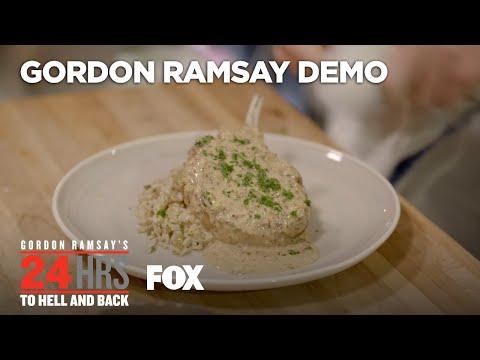 Cooking Demo: Pork Chop Dish | Season 2 Ep. 1 | GORDON RAMSAY'S 24 HOURS TO HELL & BACK