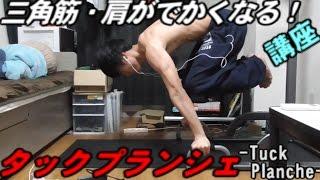 【筋トレ・解説】タックプランシェトレーニング法。三角筋をでかくしたい人必見!
