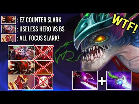 EPIC Pro 31 Kills Slark vs HARD Counter Pick Bloodseeker Pudge Silence Crazy Top Rank Game Dota 2