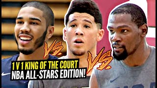 1v1 King of The Court NBA All-Stars Edition!! Kevin Durant, Paul George, Devin Booker GO AT IT!