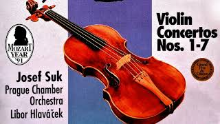 Mozart - The Violin Concertos n°1,2,3,4,5,6,7 (recording of the Century : Josef Suk/Hlaváček)