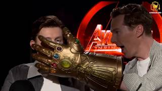 Infinity War Cast Goes Crazy with Thanos' Glove! (Anthony Mackie, Benedict Cumberbatch, and others) - Video Youtube