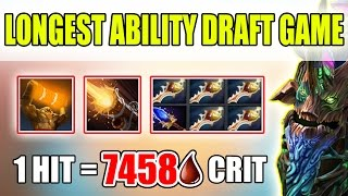 5 RAPIERS BASE DEFENCE [The Longest Ability Draft Game] Dota 2
