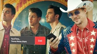 """Jonas Brothers Ghost Diplo For Jophie Wedding Stream In """"Lonely"""" Music Video"""