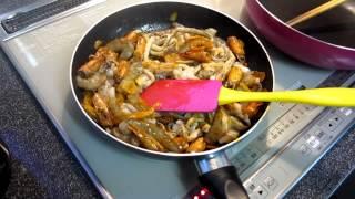 Японское блюдо морепродукты.Как приготовить.