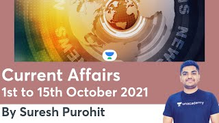 1st to 15th October 2021   Daily Current Affairs   Current Affairs   RAS/RPSC 2021   Suresh Purohit