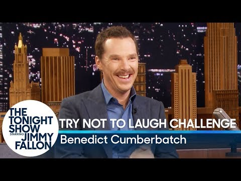 Try Not to Laugh Challenge with Benedict Cumberbatch (видео)