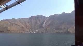 preview picture of video 'Ausflug Khasab Oman  Traditionelle Bootsfahrt durch die Fjordwelt 6'