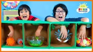 What's in the Box Challenge Ryan vs Daddy!!!!