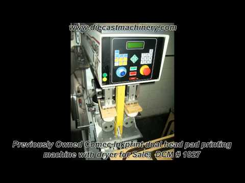 Used Comec Inkprint dual head pad printing machine with