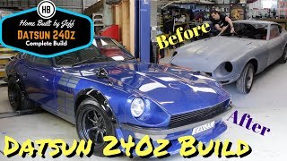 Complete Home Build Datsun 240z Restoration in 10 minutes