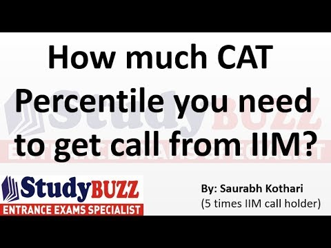How much CAT Percentile you need to get a call from IIM?