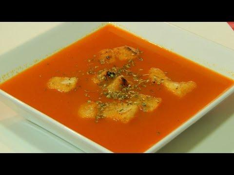 Receta fácil de sopa de tomate