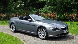 preview picture of video 'BMW 630i Sport Convertible now sold by Taylors Pitstop Garage in Horley West Sussex'