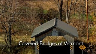 Historic Covered Bridges Of Vermont From Above (High Definition - HD)
