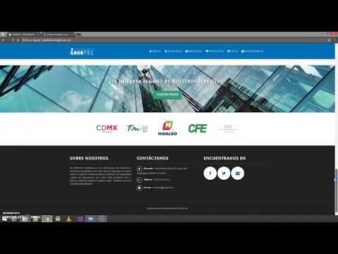 Portafolio de página web GrubTec