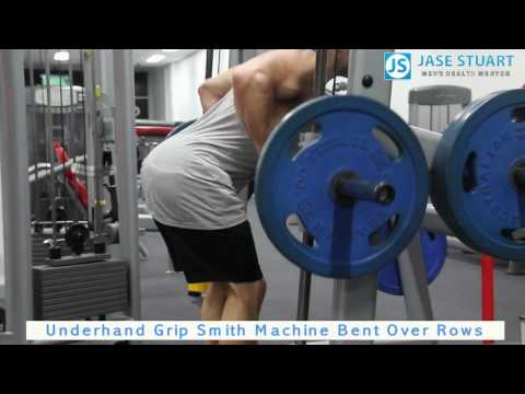 Underhand Grip Smith Machine Bent Over Rows