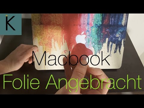 Macbook Air Farben Folie angebracht