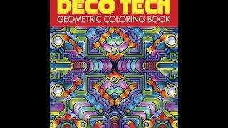 Flip Through Dover Publications Deco Tech Geometric Coloring Book By John Wik