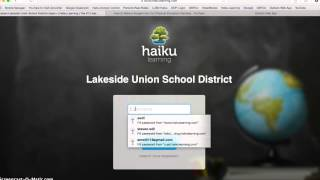 Student login for Haiku