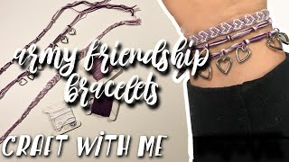 Craft With Me | Bts Army Friendship Bracelets