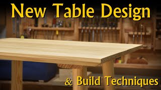 A New Simple Table Design / Build Technique - A Table The Graham Way
