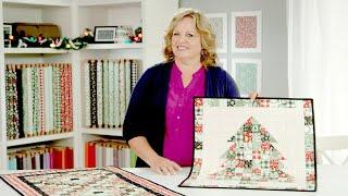 Carmen Geddes Christmas Table Runner & Christmas Tree Mini Quilt