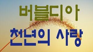 가요, 버블디아 - 천년의 사랑 , 원곡 박완규 , 가사첨부, 반복듣기,  7080, 8090, 국내가요, 한국가요,  발라드, 韓国の歌, KPOP