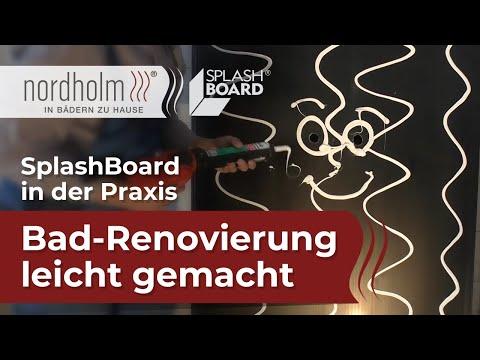 SplashBoard in der Praxis: Bad-Renovierung leicht gemacht