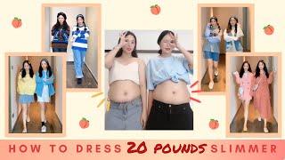 How to dress to look 20 pounds slimmer - TIK TOK / XiaoHongShu [Kimkim twins 金金 twins]