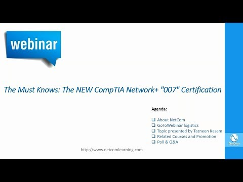 The Must Know: The NEW CompTIA Network+