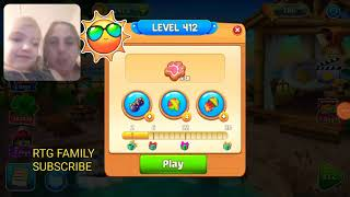 Lets play Meow match level 412 HARD LEVEL HD 1080P featuring my daughter