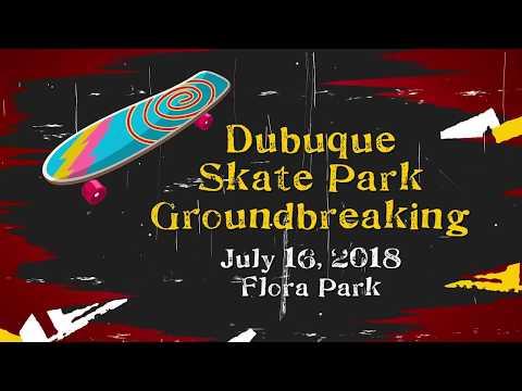Groundbreaking for Dubuque's New Outdoor Skate Park