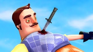 HOW TO KILL THE NEIGHBOR! BEAT THE GAME! (HELLO NEIGHBOR GAMEPLAY)